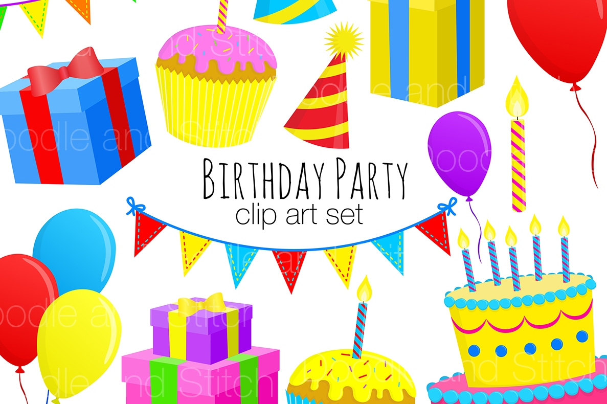 Birthday Party Clipart Illustrations by Design Bundles