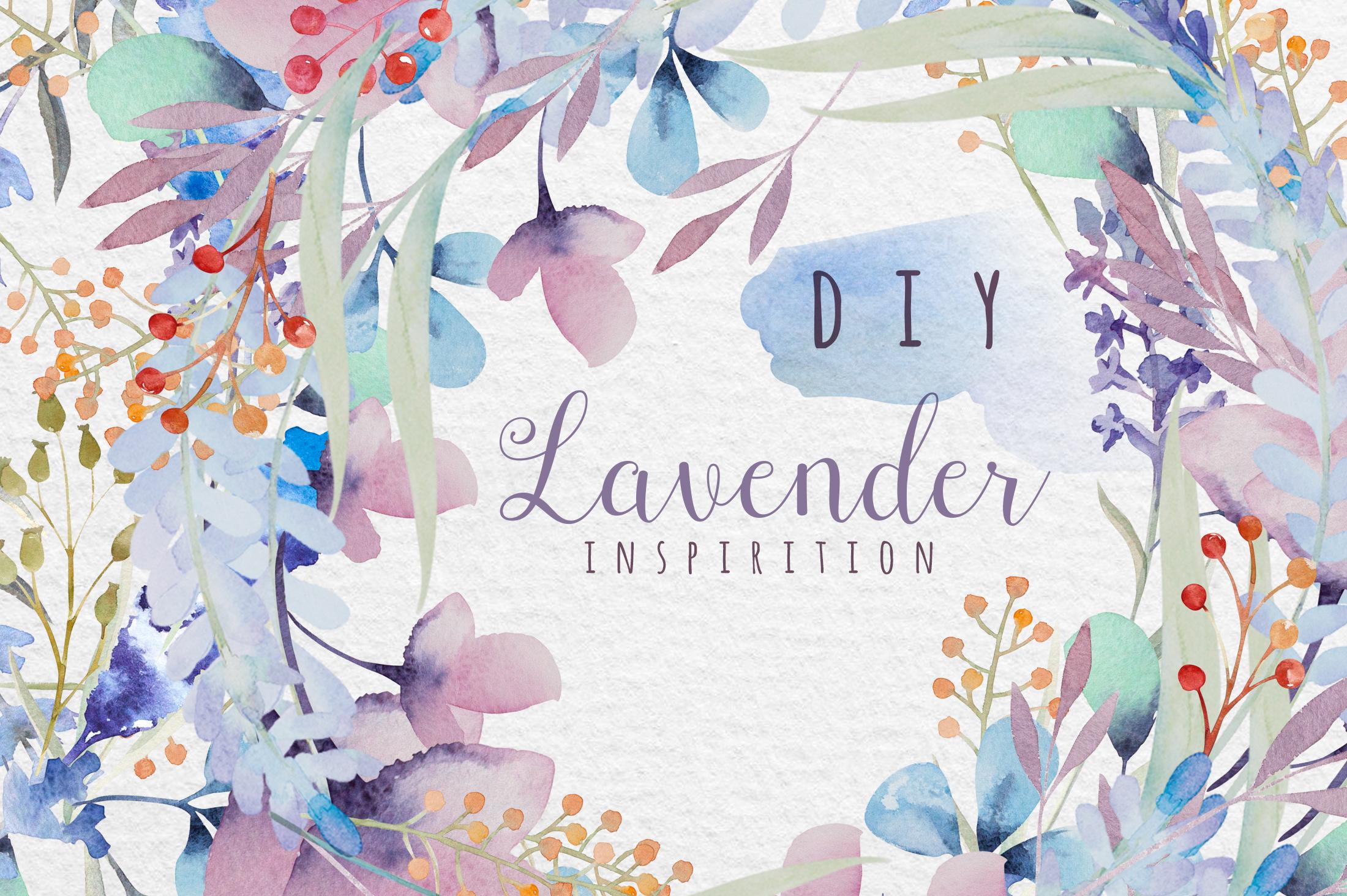 Lavender watercolor DIY example image 6
