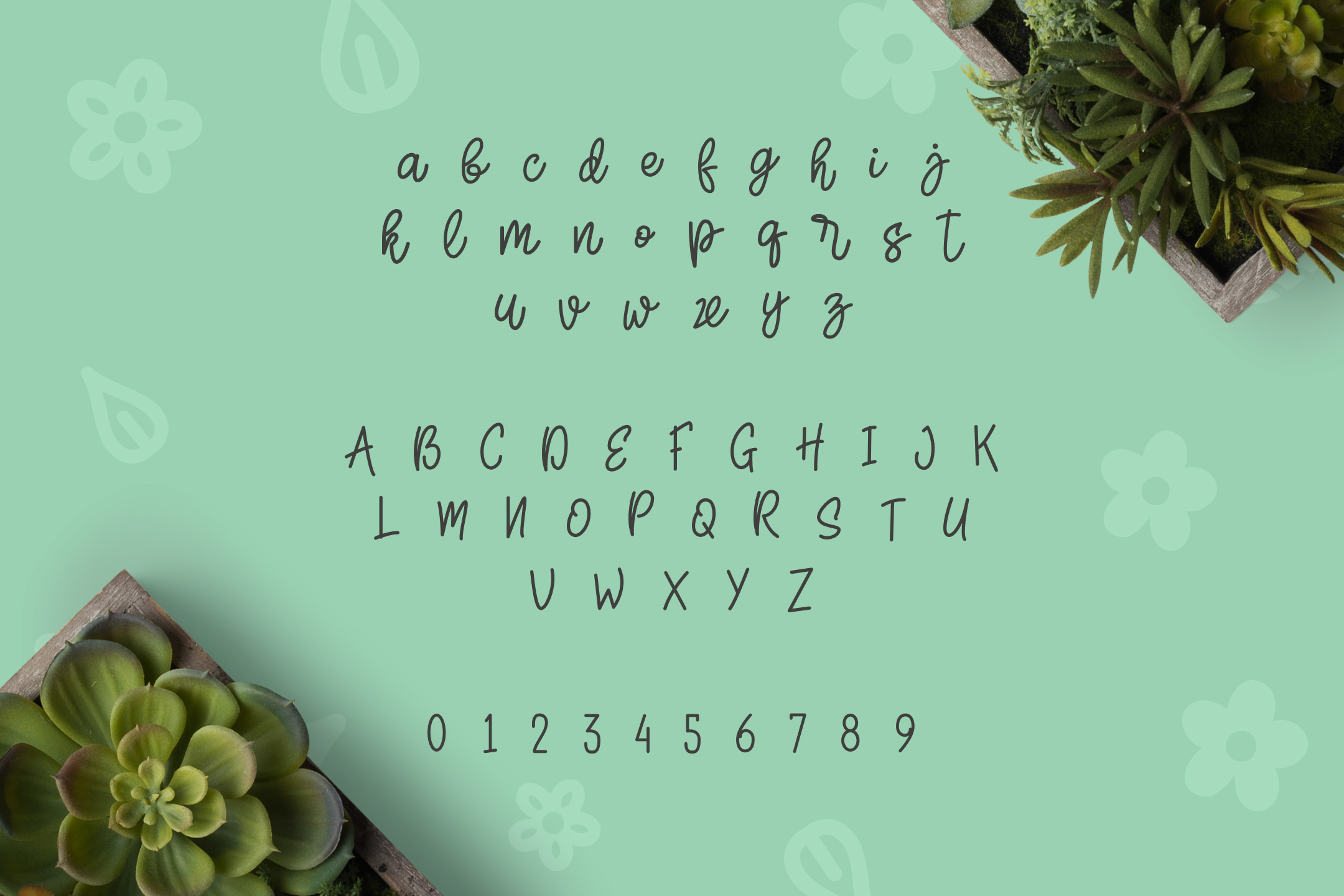 Herbie - A Flowery Font example image 2