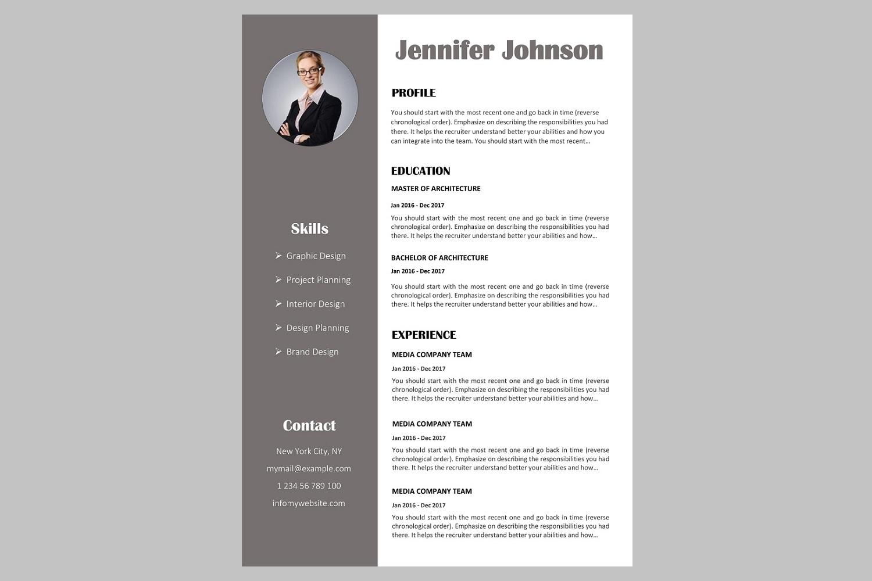 Creative resume template / CV. Bundle o | Design Bundles