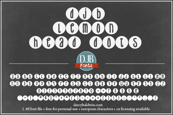 DJB Lemonhead Font Bundle example image 2