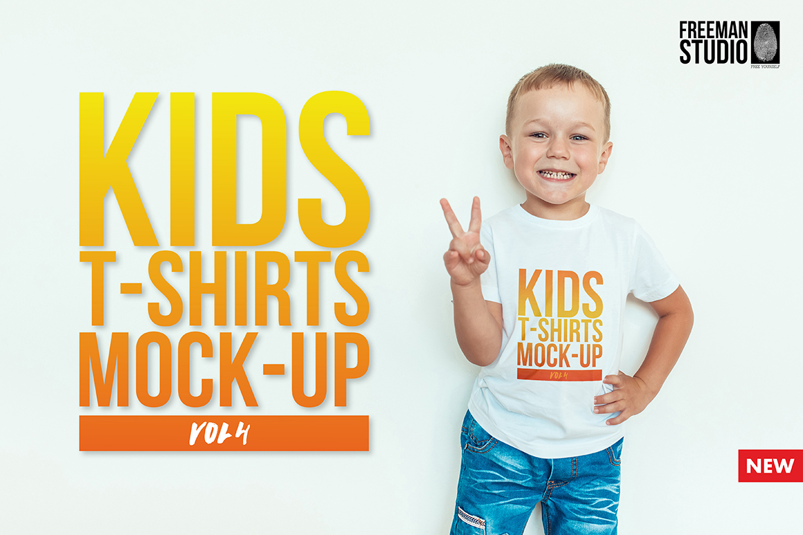 Kids T-Shirt Mock-Up Vol. 4 example image 1