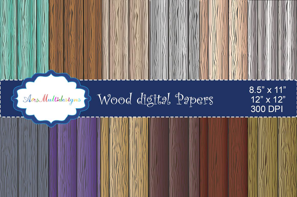 Wood digital paper / wood digital pattern / wood digital background / wood texture / wood / high quality 12 x 12 example image 1