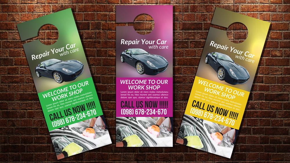 Car Wash Door Hangers Example Image 3