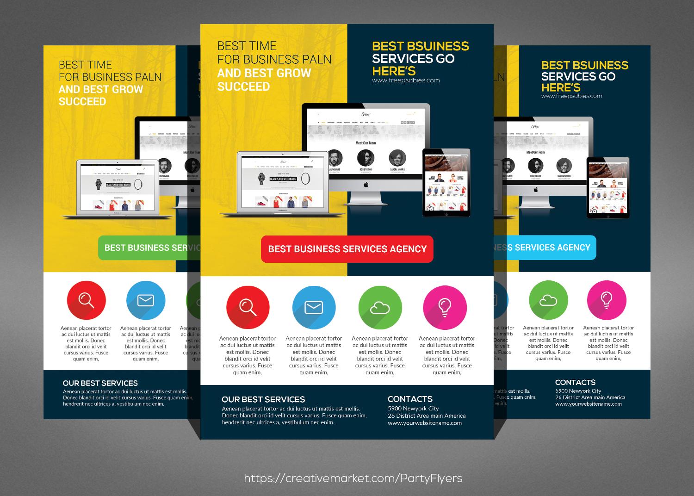 Flyers For Website Dokiokimarketco - Web design flyer template