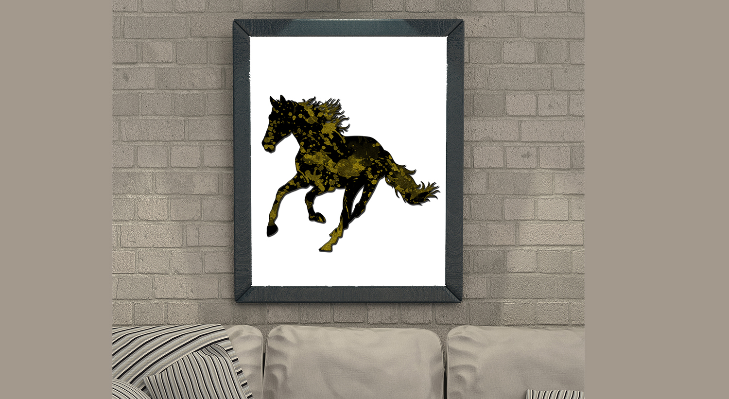 Horse Wall Art   Size 24x36 Inches   High Resolution (300 Dpi)   (
