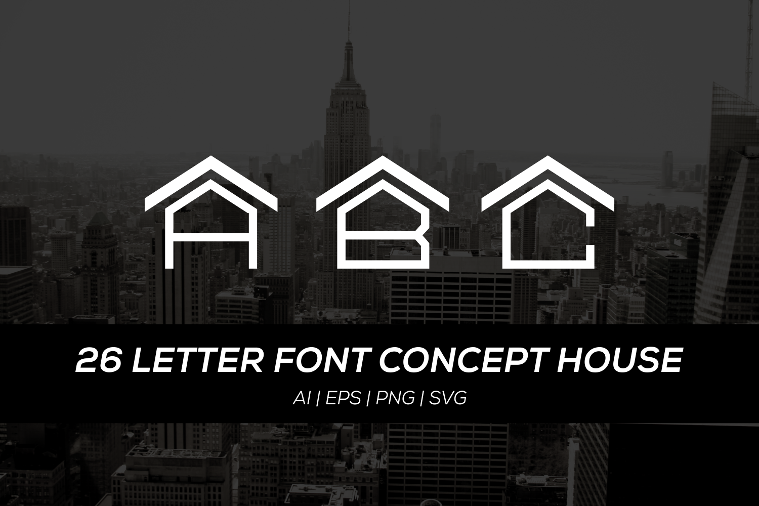 numbers with letters 26 letter font with house concept by ba design bundles 23804