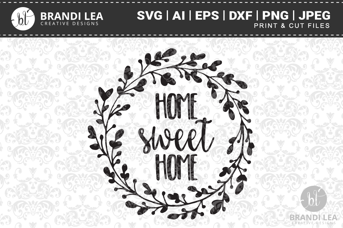 Home Sweet Home SVG Cutting Files example image 1
