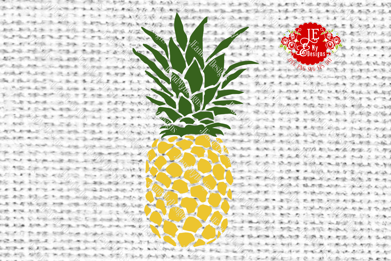 Golden Pineapple SVG, JPEG, PNG, EPS, DXF example image 4