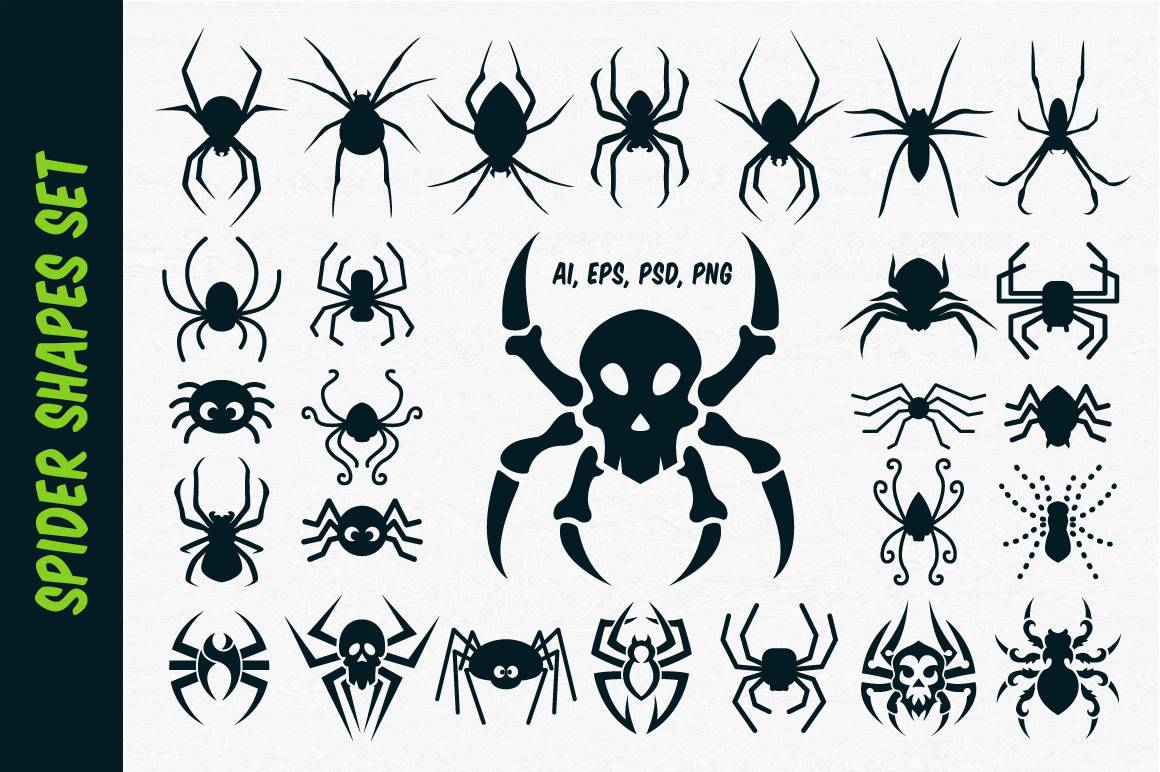 Spider Vector Shapes for Halloween example image 1