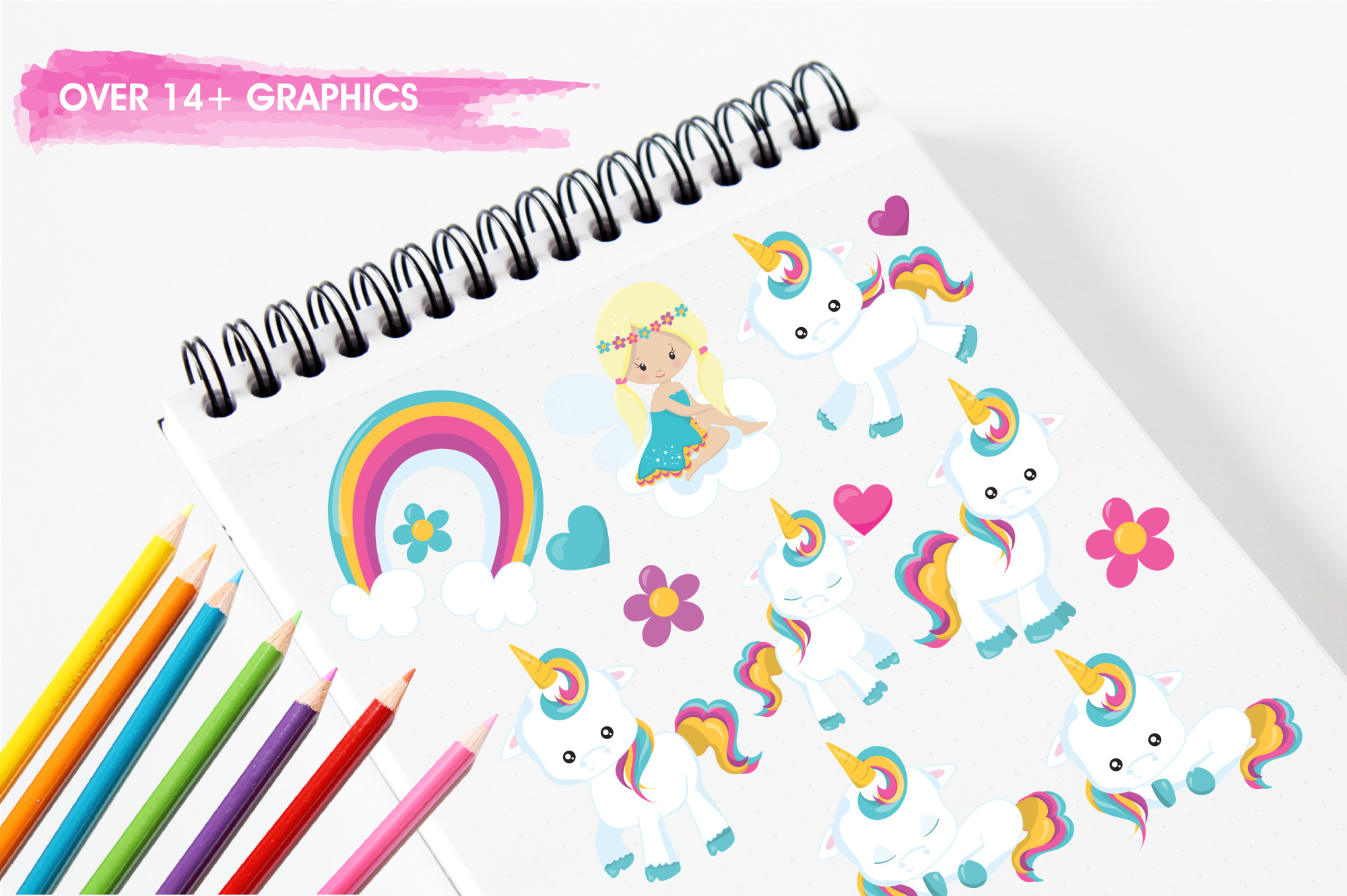 Baby Unicorn graphics and illustrations example image 3