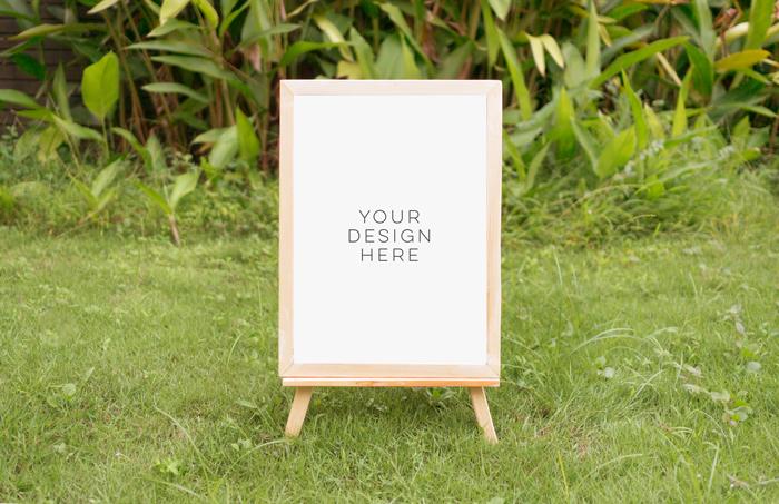 tropical summer mock up, summer mock up frame, summer wedding party frame, digital frame sign, landscape mock up, vertical mock up, PSD example image 4