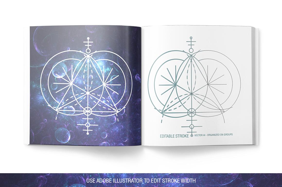 100 Sacred Geometry Symbols  example image 24