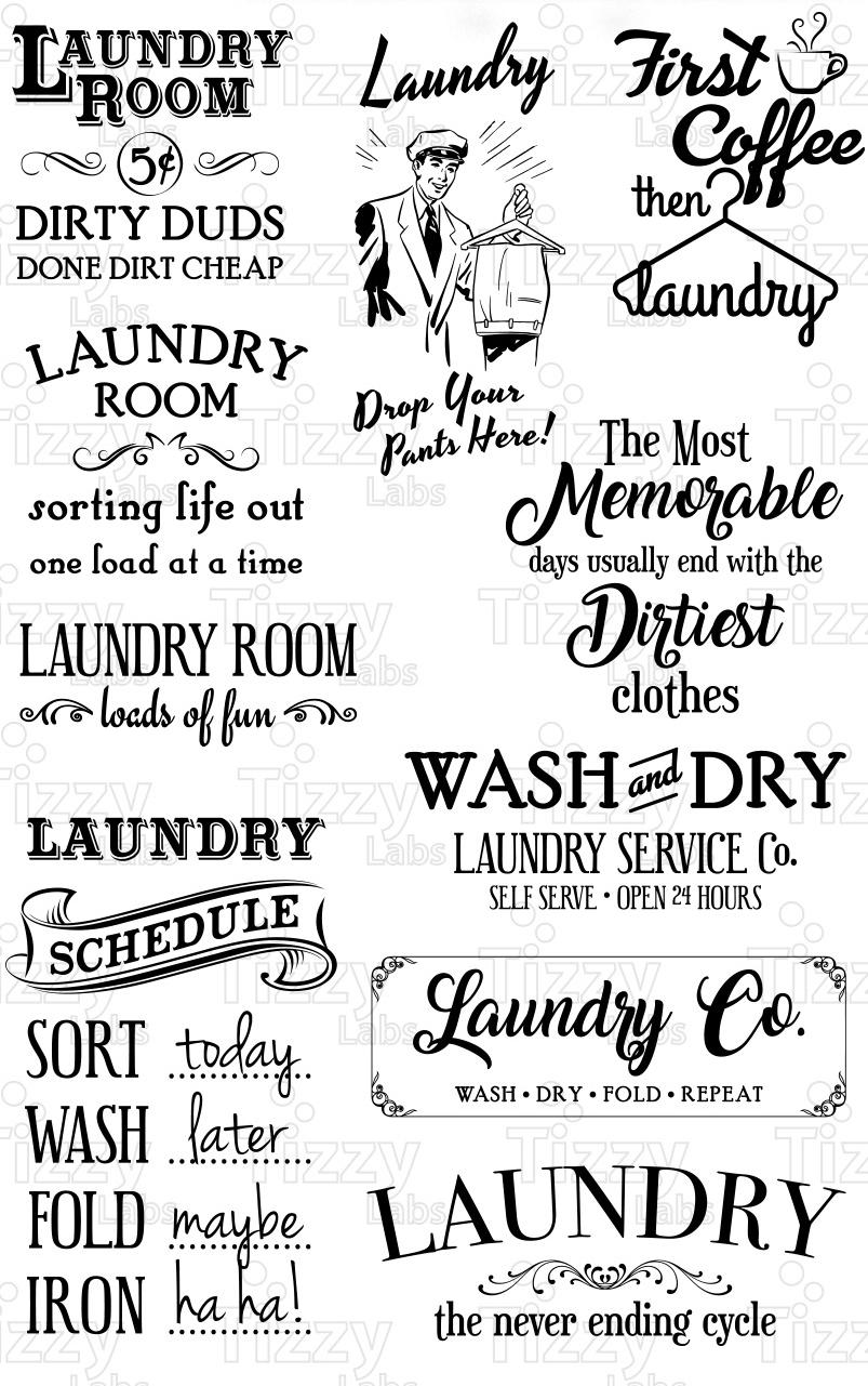 Download Laundry Room Svg Bundle Set SVG Files - | Design Bundles