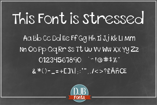DJB This Font is Bundled example image 4