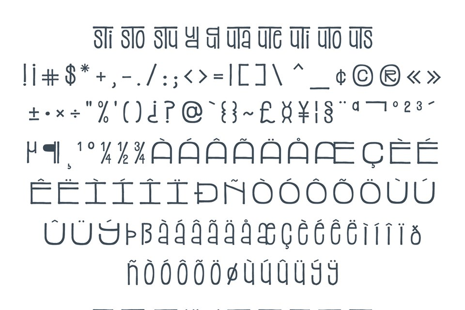 Stacked Font example image 6