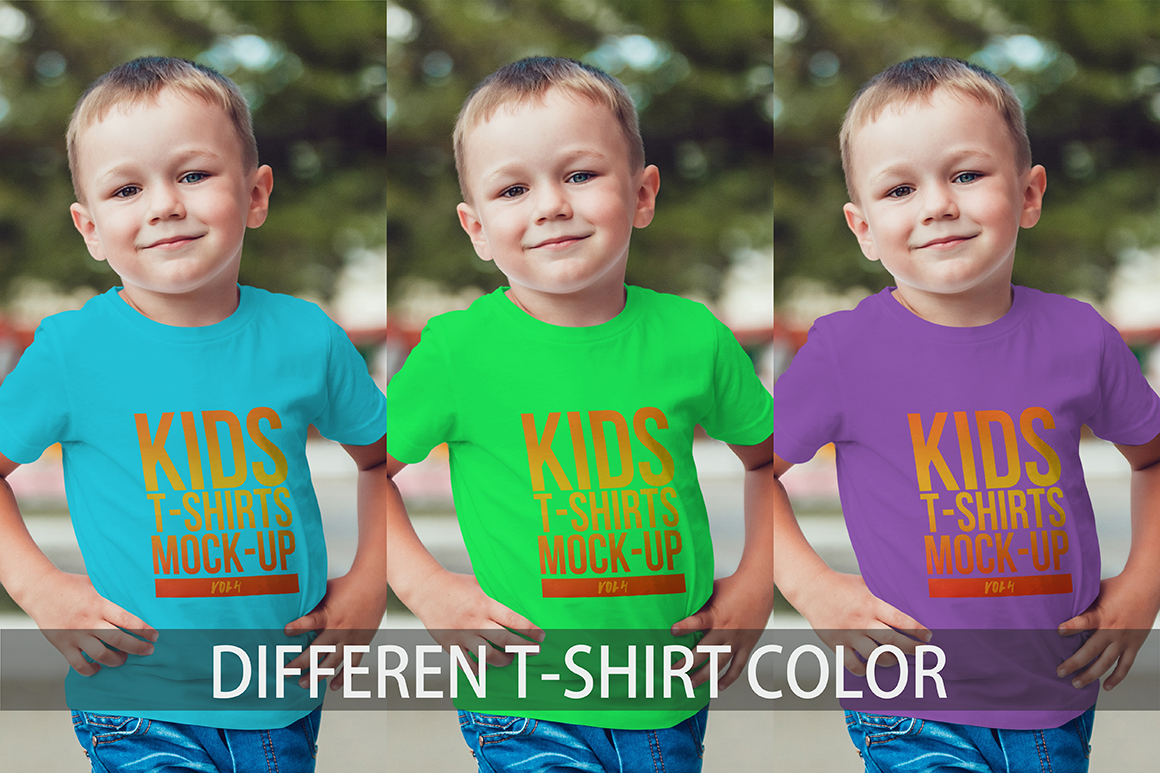 Kids T-Shirt Mock-Up Vol. 4 example image 8