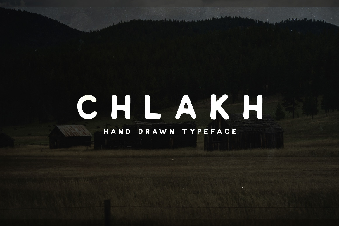Chlakh - Hand Drawn Typeface example 1