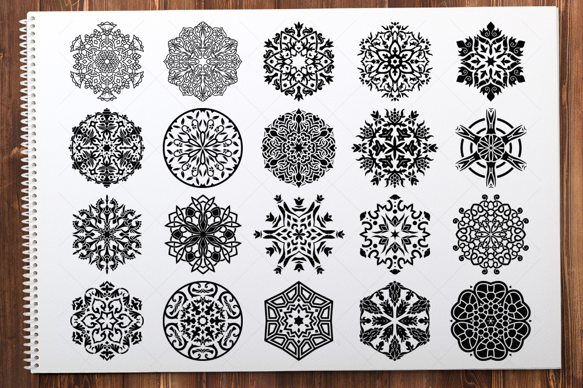 500 Vector Mandala Ornaments example image 13