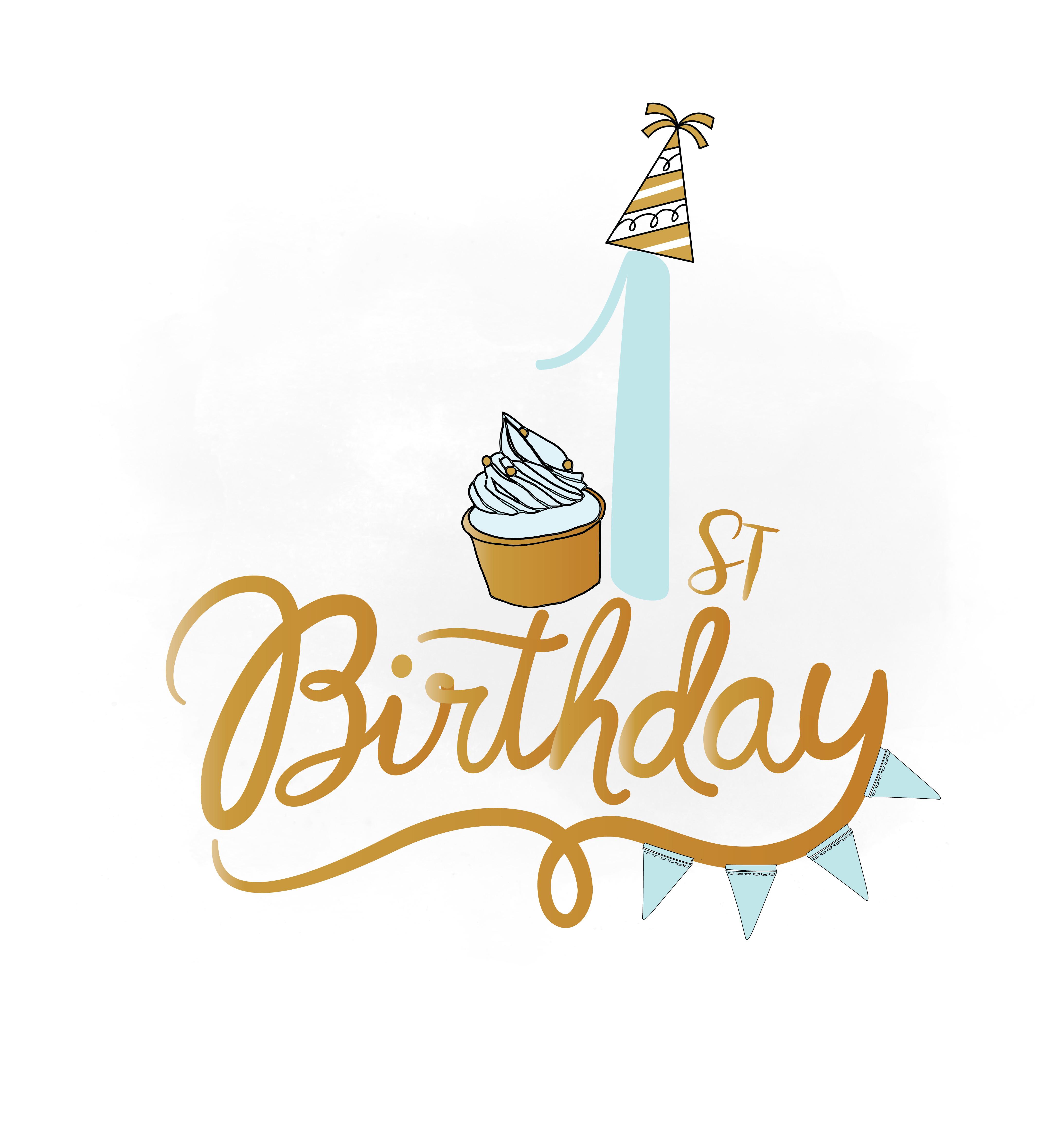 1st birthday svg clipart baby boy birt design bundles rh designbundles net 1st birthday clipart images 1st birthday cake clipart