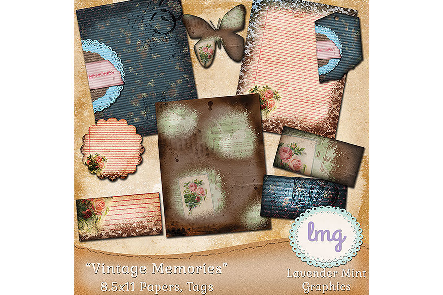 Vintage Memories Journal Kit example image 1