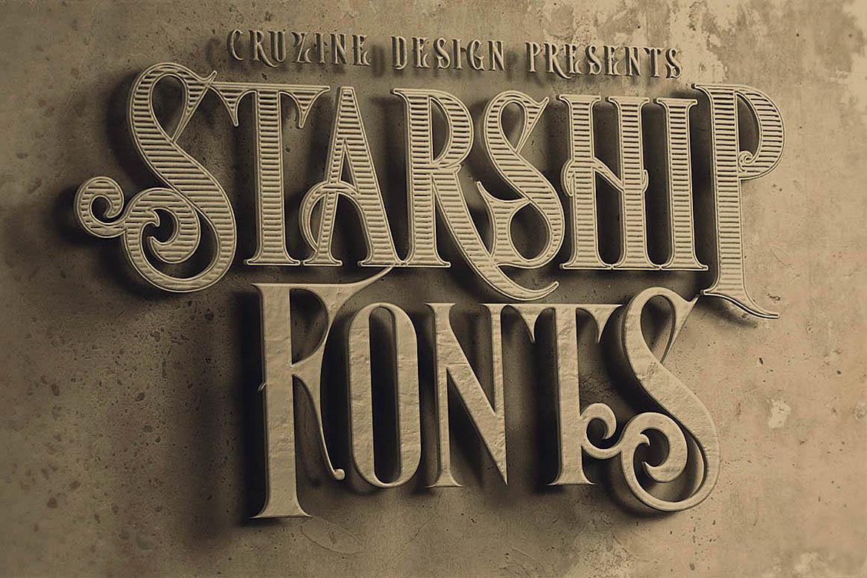 Starship Typeface example image 3