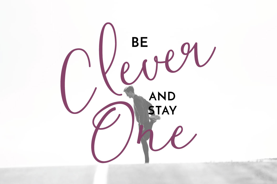 Clover Typeface example 5