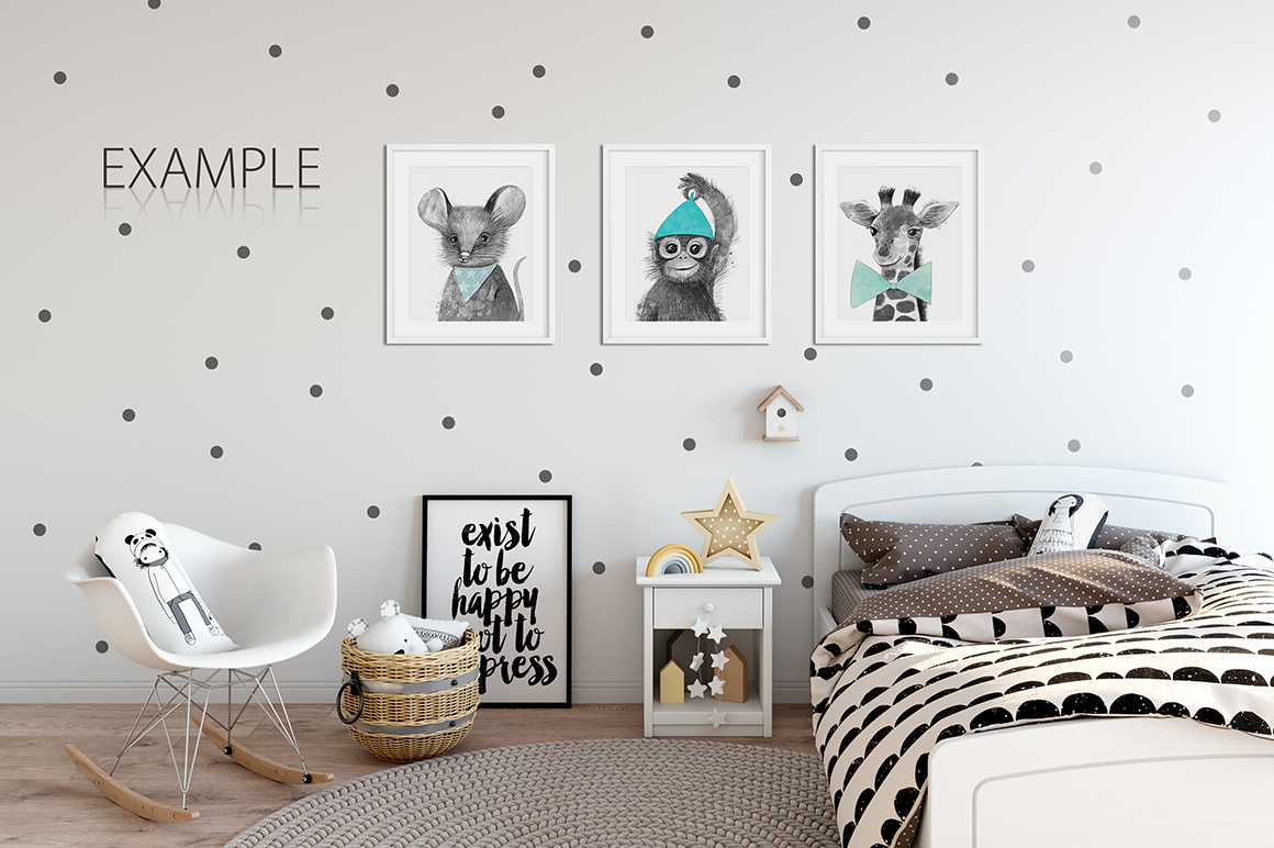 KIDS WALL & FRAMES Mockup Bundle - 2 example image 12