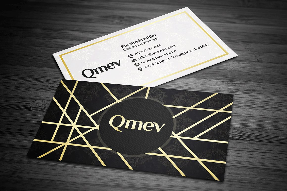 Gold and Black Business Card 2 example image 1