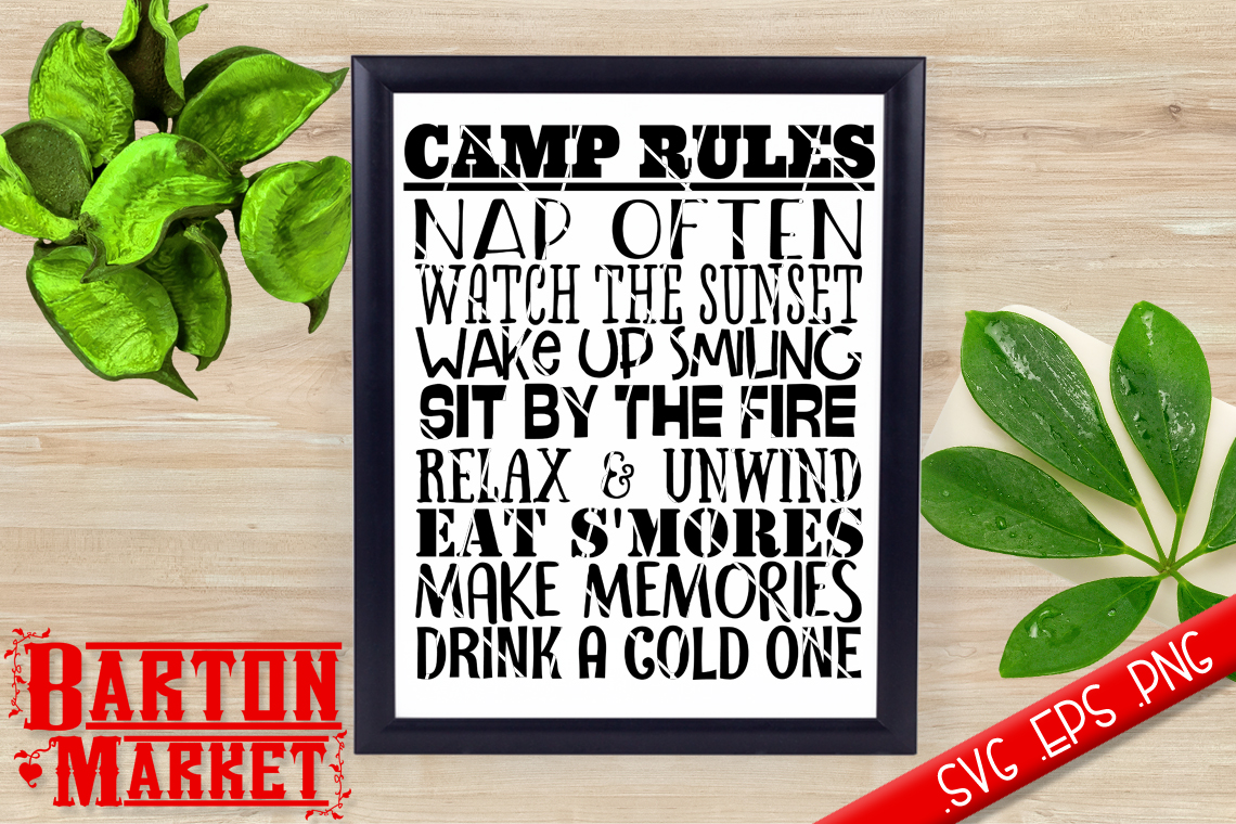 Camp Rules SVG / EPS / PNG example image 1