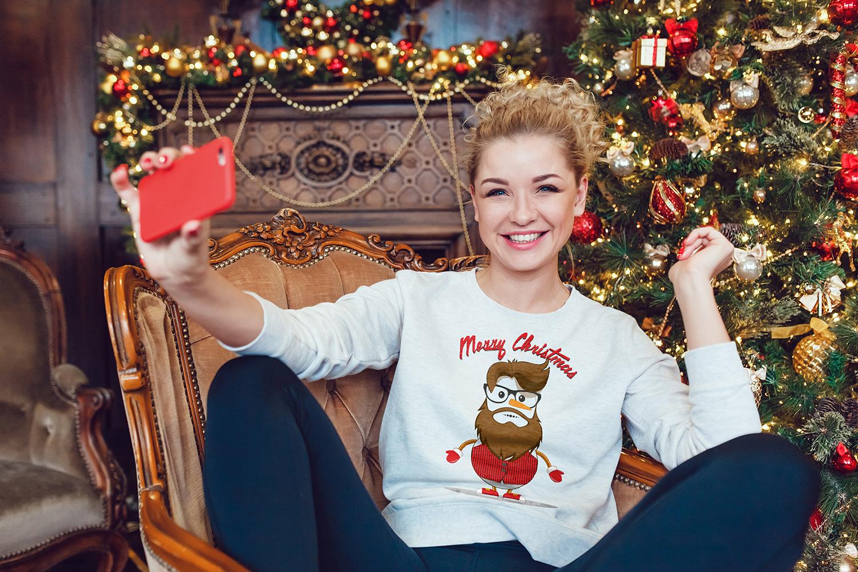 Christmas Sweatshirt Mock-Up example image 7