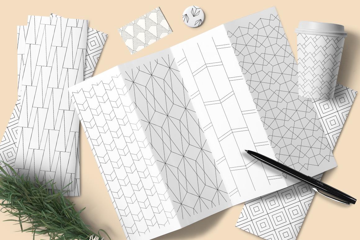 Simple line patterns design