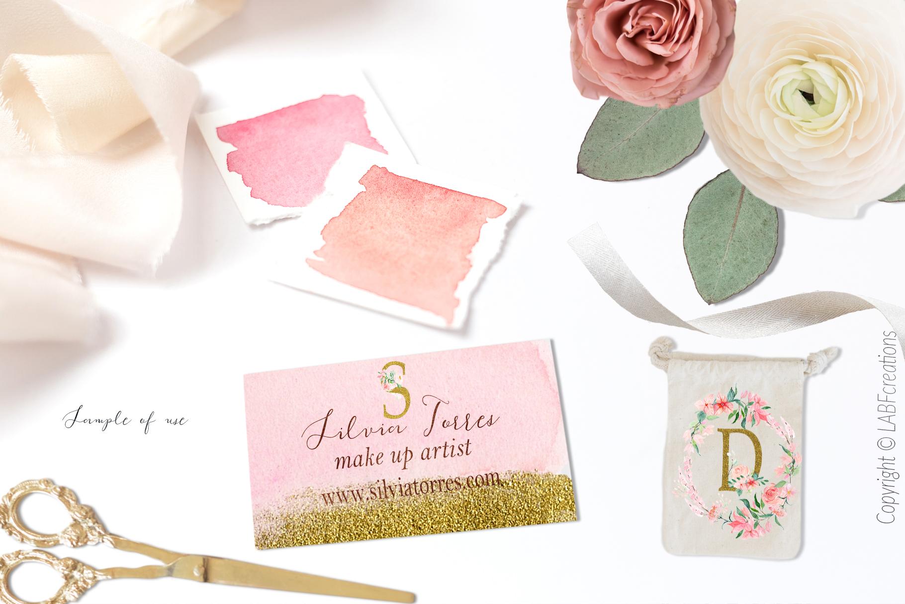 Blush Pink bougainvillea Wedding waterc | Design Bundles