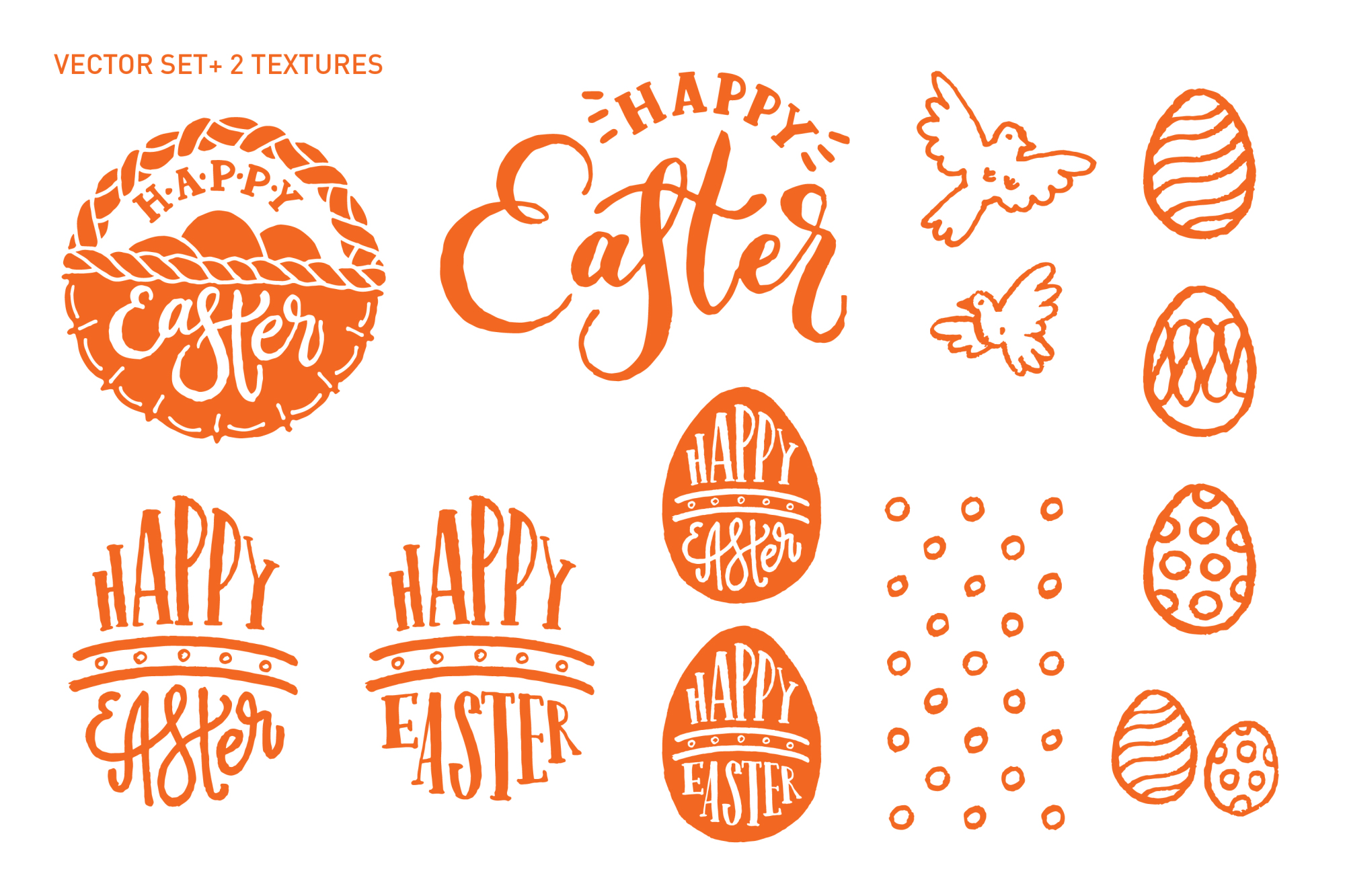 happy easter vector elements and water design bundles rh designbundles net easter vector background easter vector background