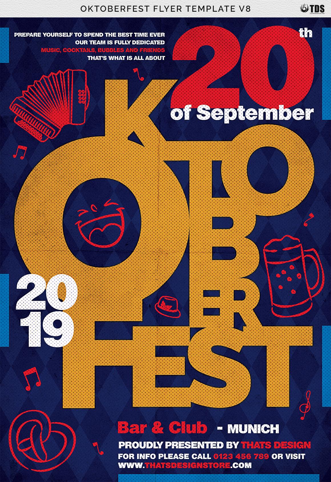 Oktoberfest flyer template V8 example image 8