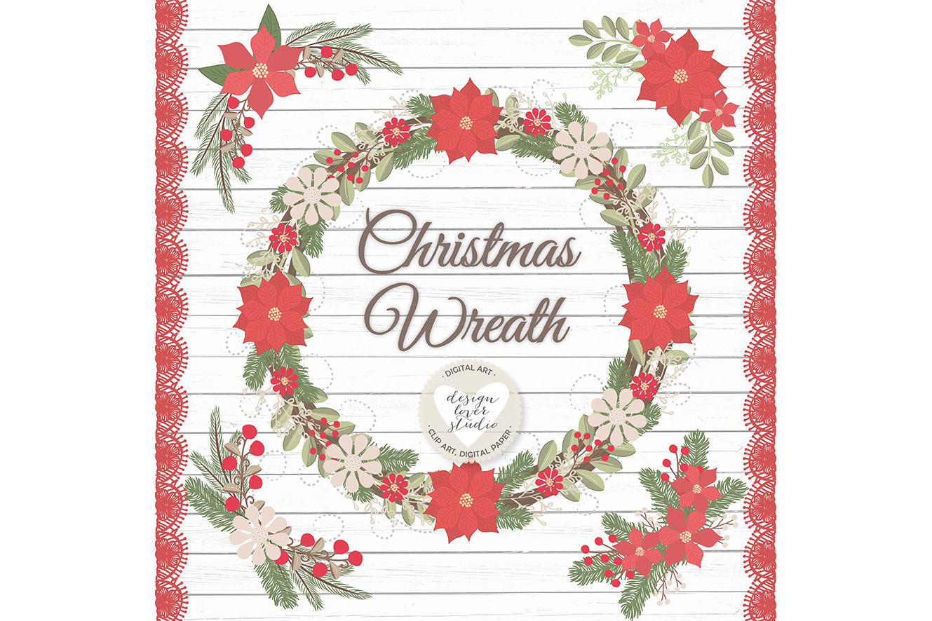 Vector Rustic christmas clipart example image 2
