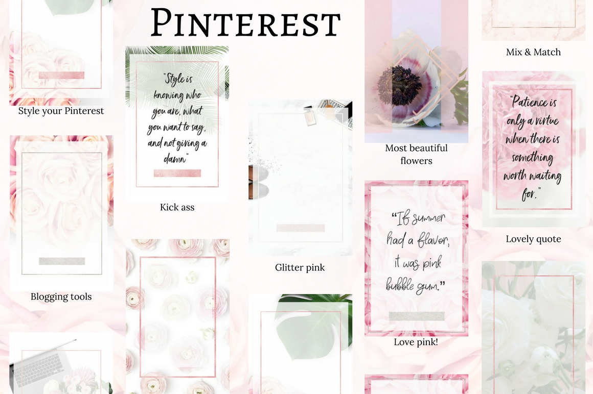 Pinterest templates- Pink passion example image 2