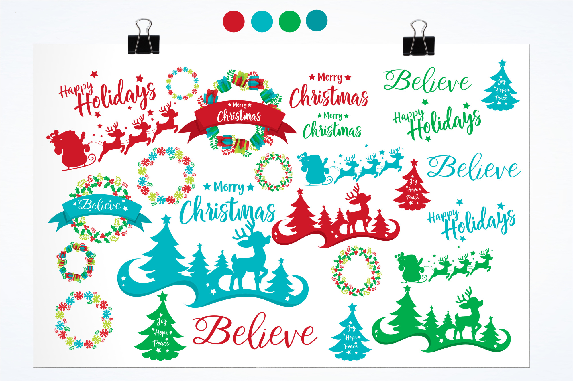 Happy Holidays  graphics and illustrations example image 2