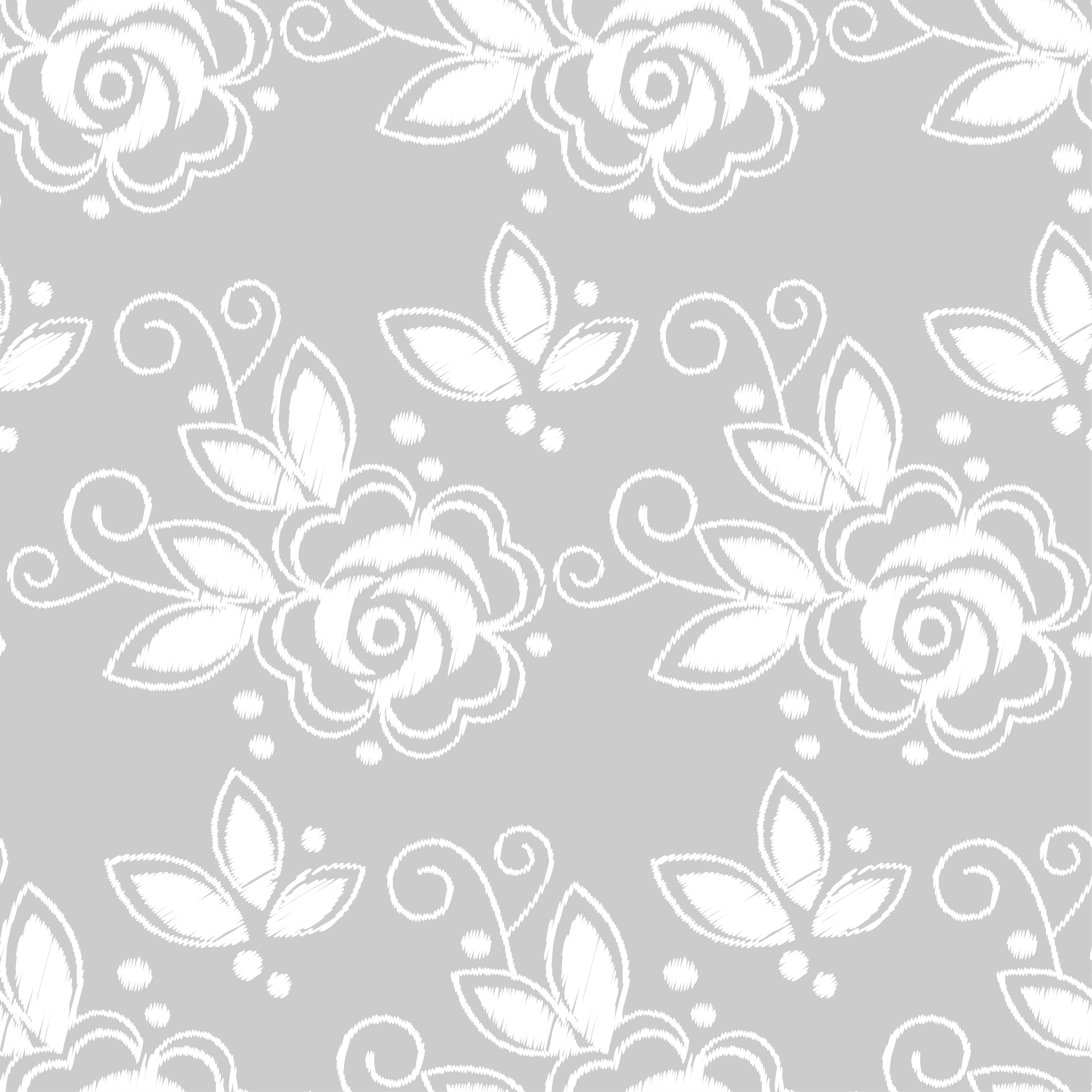 Seamless background. White embroidery o | Design Bundles