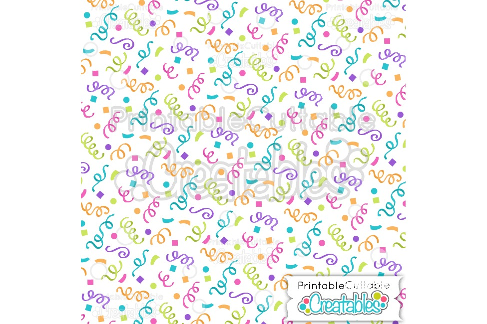 Birthday Confetti Digital Paper & Seamless Pattern