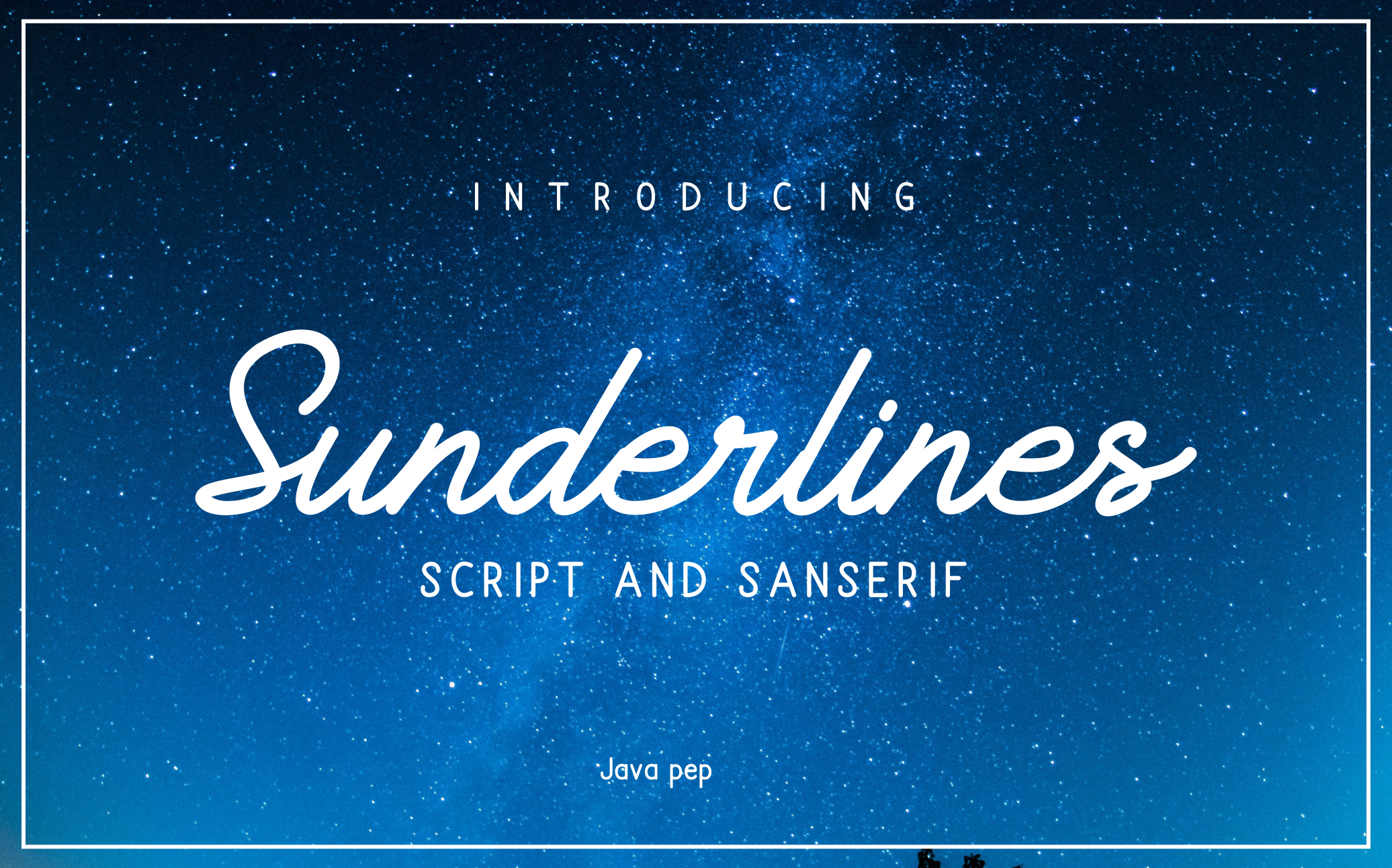 Sunderlines - Script and Sanserif example image 1