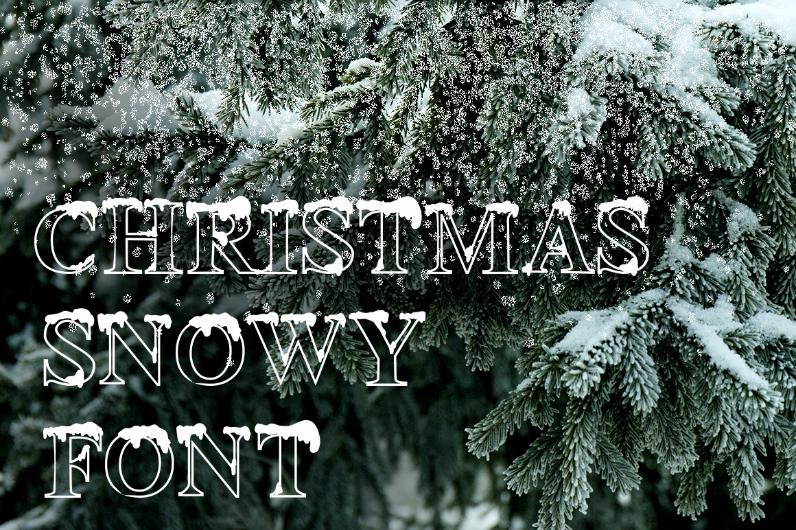 Christmas snowy display font example image 2