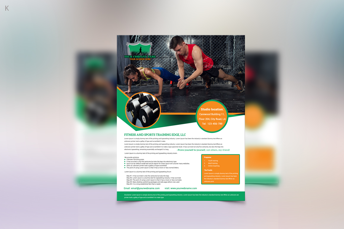 Fitness Training Flyer example image 2 Fitness