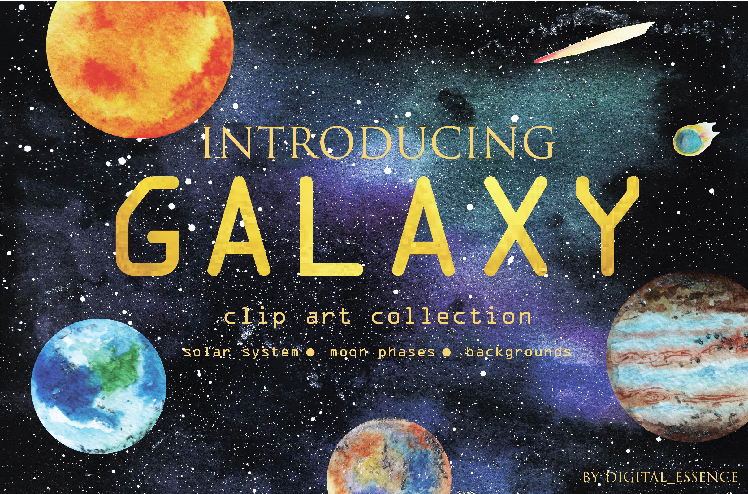 Galaxy clip art collection example image 1