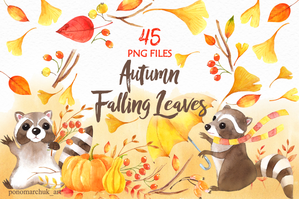 Autumn falling leaves example image 1
