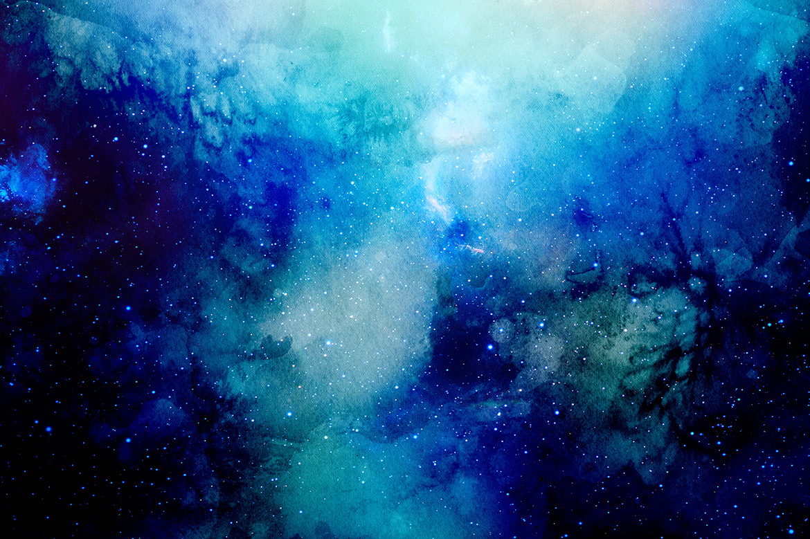 13586 Space Watercolor Backgrounds on Space Theme Printables