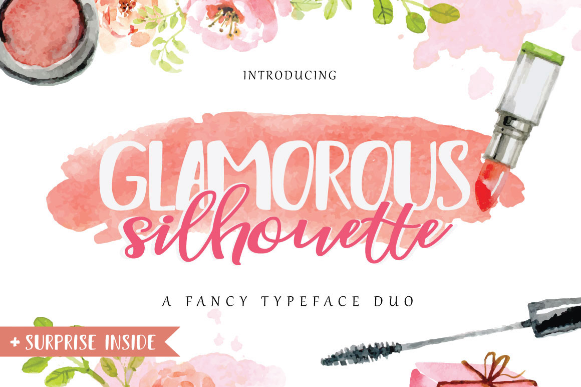 Glamorous Silhouette Font example image 1