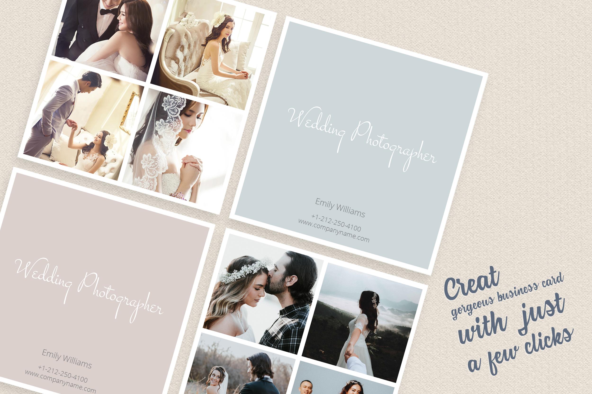 Square polaroid wedding photographer bu design bundles square polaroid wedding photographer business card example image 3 reheart Images