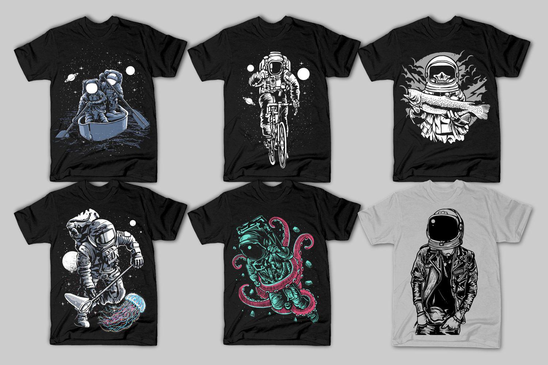 42 Tshirt Designs Bundle example image 3