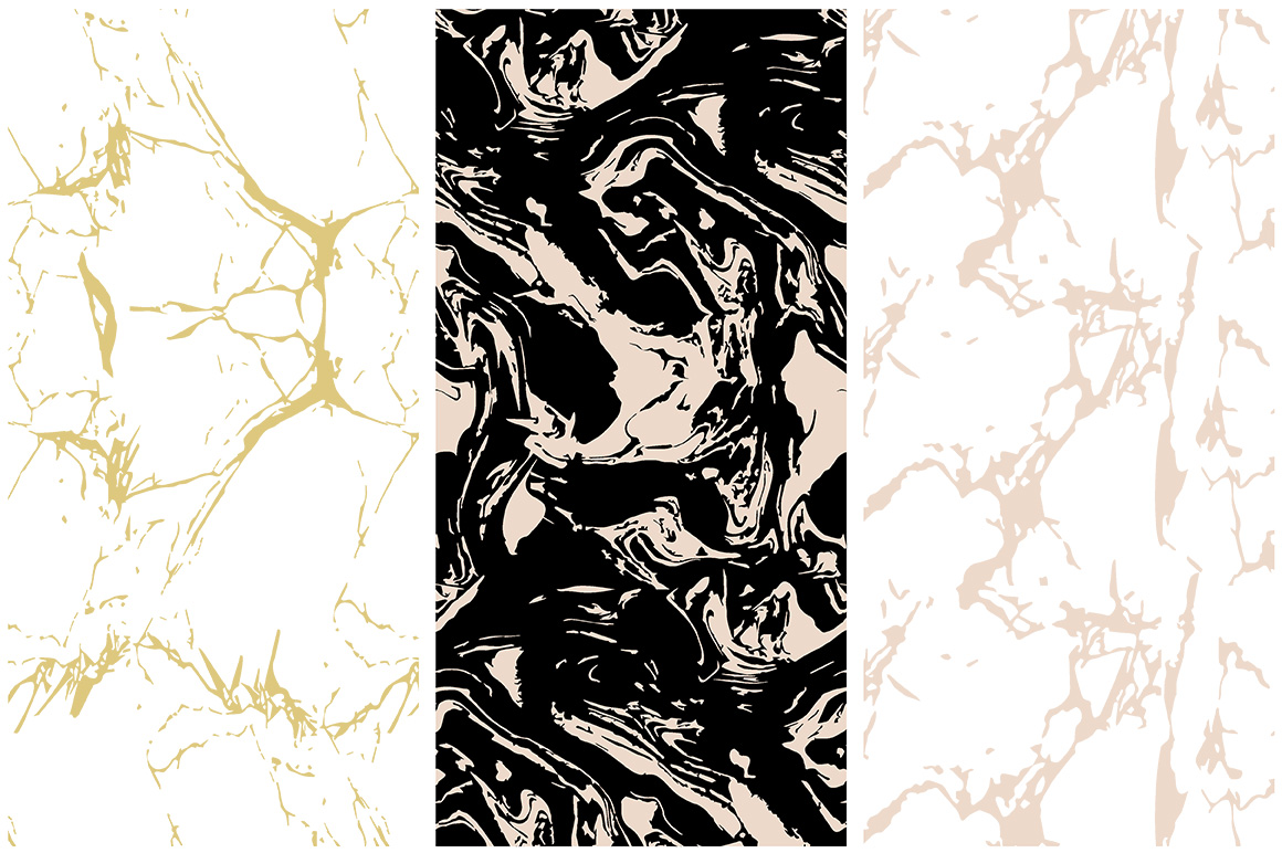 Marble Seamless Vector Patterns example image 4